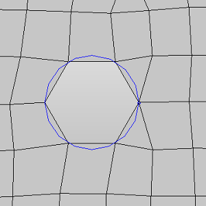 Mesh result of round hole by HyperMesh