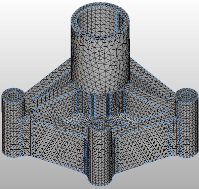 Mesh result of FORTUNA Solid