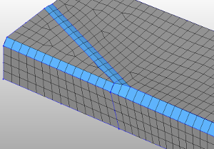 Result of fillet mesh by HyperMesh