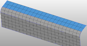 Result of flange mesh by HyperMesh